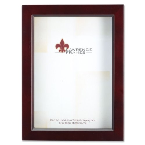 Lawrence Frames 795157 Espresso Wood Treasure Box Shadow Box Picture Frame, 5 by 7-Inch ()