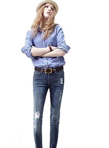 Metallo In Cinturino Fibbia In Vita Rilievo Vita Marroni Moda Per Pelle Le In Cinture Magro Jeans Floreale Donne In Per D'epoca In La Pantaloni Con H64nwqR