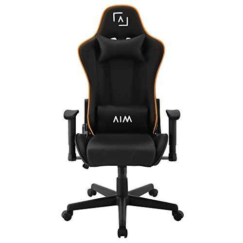 AIM silla gaming profesional, iluminación DNA RGB, reclinable 180º