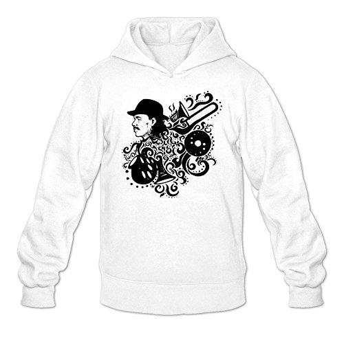 Tommery Men's Carlos Santana Art Long Sleeve Sweatshirts - Raw Santana