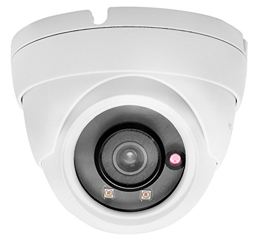 (HDView 3MP Megapixel IP Network Camera ONVIF PoE, 3.6mm Wide Angle Lens 3-Axis, Vandalproof)