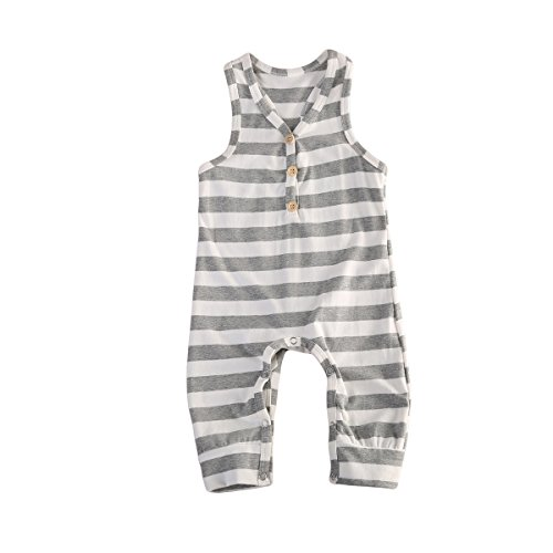 Newborn Kids Baby Boys Cute Solid Color Long Sleeve Hooded Romper Jumpsuit Top Outfits Clothes (12-18 Months, ()