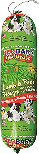 Redbarn Pet Products Lamb and Rice Food Roll, 4lbs, 1 Pack