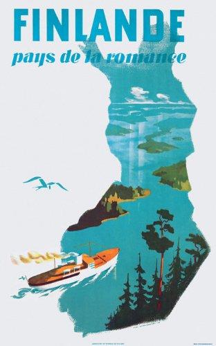 COME TO FINLAND カム トゥ フィンランド ポスター J22 (Finlande = Romance)北欧雑貨 B00G3S0W5Q