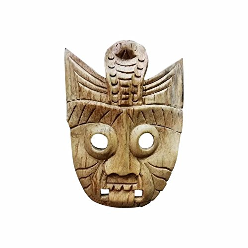 ONE2T Mask Carved Wood Wall Art Panel Teak Carvings Decor for Living ...
