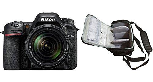 KamKorda Camera Shoulder Bag + D7500 DSLR Camera + AF-S 18-140mm VR + 2 Year Warranty