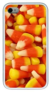 Candy Corn8 TPU Silicone Case Cover for iPhone 4/4S White