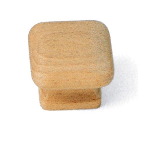 Laurey 32301 1 1/2-Inch Natural Wood Square Knob