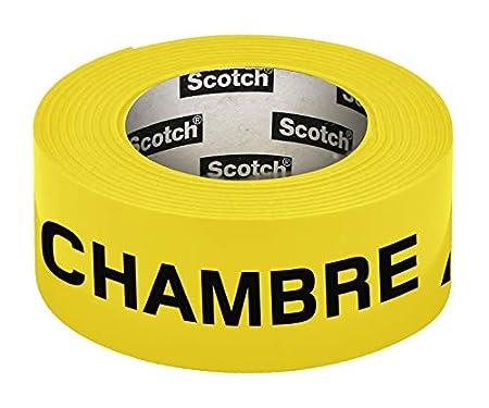 Scotch Ruban adhésif fluo préimprimé fluo Chambre 30mm x 50m Vert 3M 300154G
