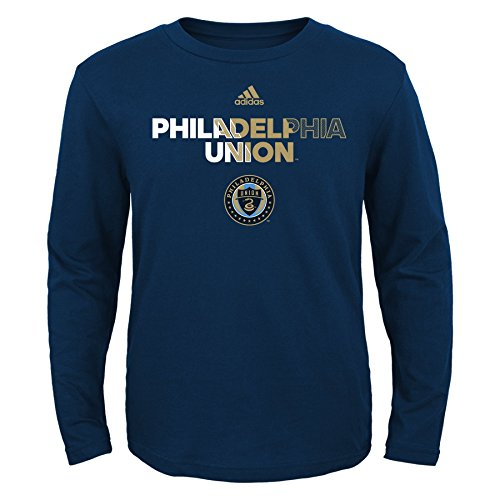 fan products of MLS Philadelphia Union Boys -Short sleeve Striker Tee, Dark Navy, X-Large (18)