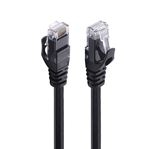 Cat 6 Ethernet Cable 20 FT Black - Higher Bandwidth Gaming Cable 24AWG 250MHZ Snagless UTP Patch Cord RJ45 Computer Cable for Modem Router PS4 CCTV(20 FEET / 6 Meter, Black)