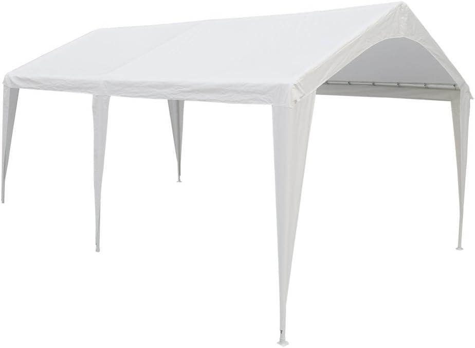 Abba Patio 10 x 20-Feet Domain Carport al aire libre con 6 patas de acero: Amazon.es: Jardín