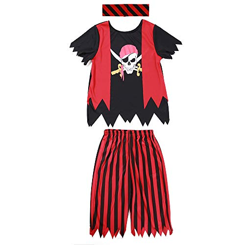 Boys Pirate Costume 3pcs Set (5-6years) -