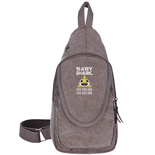 Baby Shark Doo Doo Doo Canvas Sling Bag Chest Bag For Student Multipurpose Hiking Shoulder Bag
