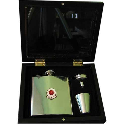 (Football Club Hip Flasks-Doncaster 'The Rovers' Football Club 6Oz Hip Flask Gift Set)