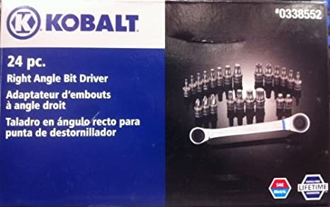 Kobalt 24 Pc Right Angle Bit Driver # 338552 by Kobalt - - Amazon.com