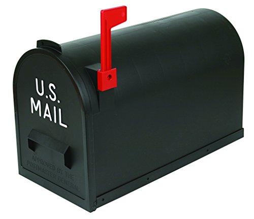 Flambeau T-R7001BL Classic Mailbox, Rural Style, Black