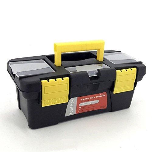 Techsun Multipurpose Plastic Storage Box Travel Tool Organizer Storage Box for Hand Tool Kit, Hammer, Accessories etc.