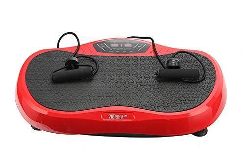 Dominiti Vibrationsplatte mit 99 Stufen Fernbedinung   2 Expander zum greifen Fitness für zu Hause