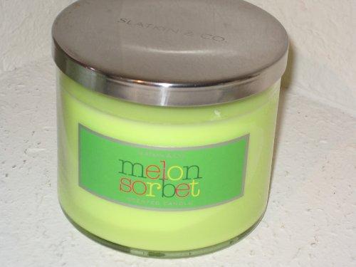 Bath & Body Works Slatkin & Co 14.5 Oz. Filled Candle - Melon Sorbet