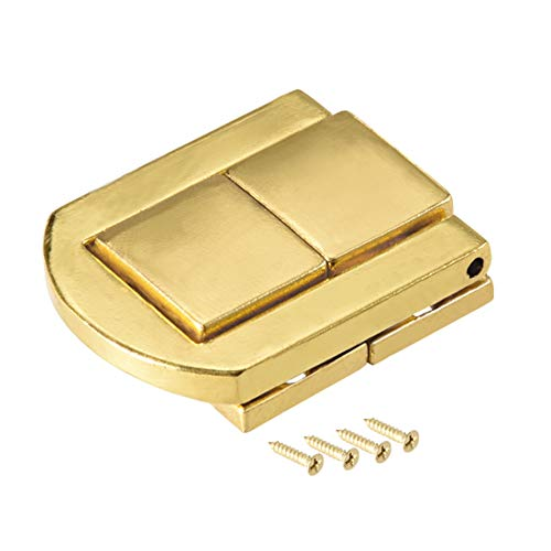 uxcell Toggle Latch, 30mm Retro Style Golden Decorative Hasp Jewelry Box Catch w Screws 6 pcs by uxcell