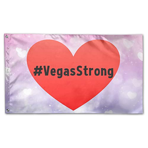 Vegas Strong Garden Flags 3 X 5 in Indoor&Outdoor Decorative Home Fall Flags Holiday Decor