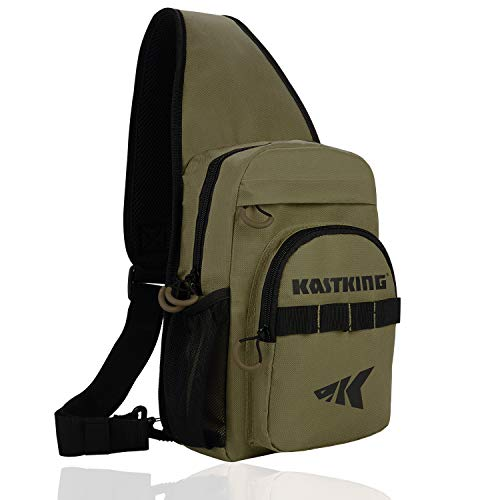KastKing Sling Fishing Bag,Standard(11.5 x 9.25 x 5 Inches)-Earth Brown, Without Trays