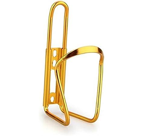 Bestlymood Soporte para Botella Agua Bicicleta Bici Aluminio Color Dorado