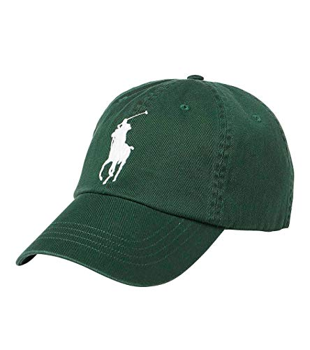 - Polo Ralph Lauren Men`s Cotton Chino Baseball Cap with Adjustable Leather Strap (One Size, Northwest Pine (4001) / White)