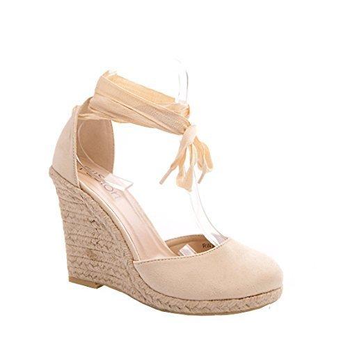 De Mujer Color Carne Alpargatas Informal Verano Cuña Vacaciones Zapatos - Mujer, Nude, 23 EUR: Amazon.es: Zapatos y complementos