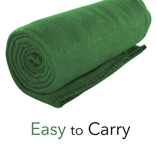 Fleece Traveler Blanket - Imperial Home Cozy 50 X 60 Fleece Throw Blanket -Green