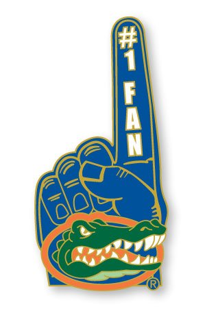 NCAA Florida Gators #1 Fan Pin