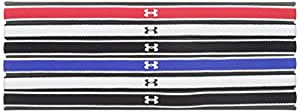 Under Armour Women's Mini Headbands - 6 Pack, Red/Black, One Size