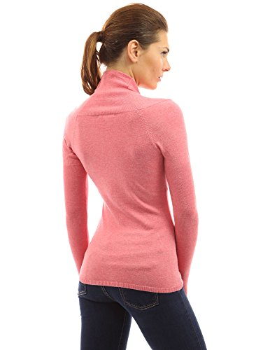 Collo Vita Donne Dell'impero Erica V Maglia Corallo Top Pattyboutik Rosa AEtvq6wE