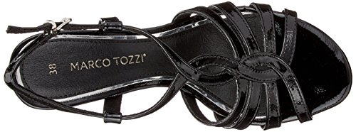 black Con Cinturino Alla Donna Patent Nero Sandali Tozzi 28321 Caviglia Marco tqIzH