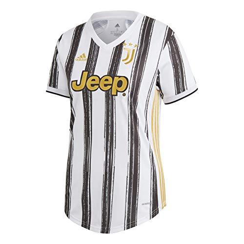 adidas Juventus Primera Equipación 2020-2021 Mujer, Camiseta, White-Black