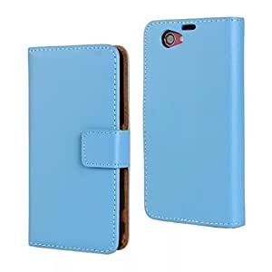 MOONCASE Flip Leather Wallet Card Pouch Stand Back Case Cover For Sony Xperia Z1 Compact (Mini) Blue