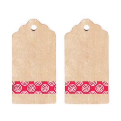 Dress My Cupcake Rustic Wooden Gift and Favors Tags DIY Kit, Red Floral ()