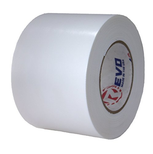 REVO Preservation Tape / Heat Shrink Wrap Tape (4'' x 60 yards) MADE IN USA (WHITE) Poly Tape - Electrical Tape - Boat Storage Tape (PINKED EDGE) SINGLE ROLL (HEAVY DUTY: 9 MIL THICKNESS) by Revo