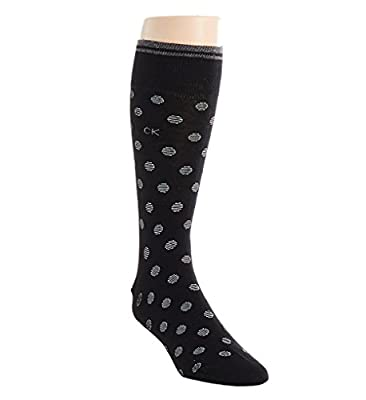 Calvin Klein Men's Striped Cuff Dot Crew Sock