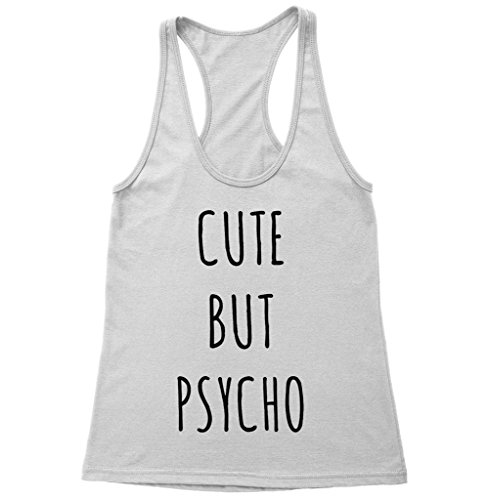 Cute But Psycho Racerback Tank Top TUMBLR Women's Tank Top ()