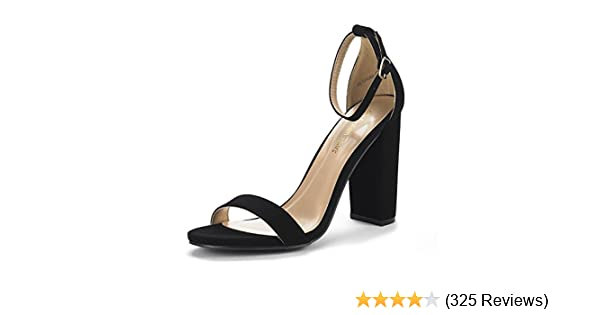 b4dac665b32 DREAM PAIRS Women's Hi-Chunk High Heel Pump Sandals