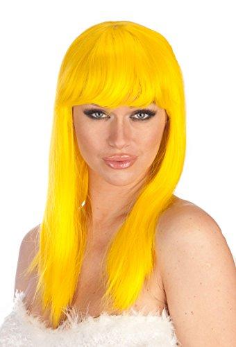 New Look Wigs Women's Premium Quality Long Bob Wig - (Smurfette Costume Women)
