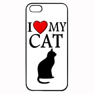 Custom I Love My Cat Symbol Silohuette Case For Ipod Touch 4 Cover Hard Shell