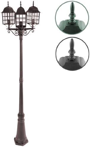 Jago – Farola de jardín color óxido con tres lámparas: Amazon.es ...