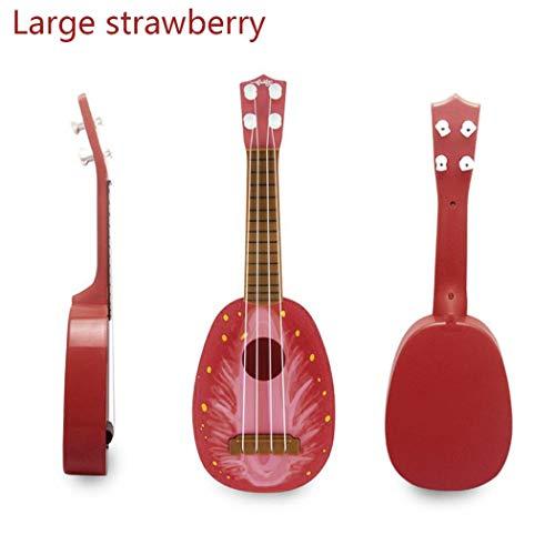 MYEDO Beginner Ukulele Toys for Kids, Mini Simulation Fruits Shaped Guitar & Strings Children Musical Instruments Educational Toys