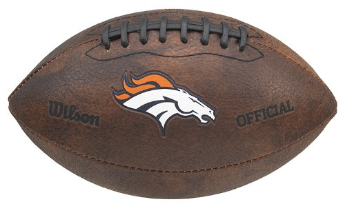 (NFL Denver Broncos Color Logo Mini Football, 9-Inches)
