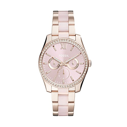 (Fossil Women's 'Scarlette' Quartz Stainless Steel Casual Watch, Color:Pink (Model: ES4362))
