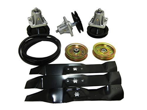 Spindle Parts Service - proven part Replacement KIT SPINDLES Blades Belt IDLERS CUB Cadet 918-0660 i1046 LT1045