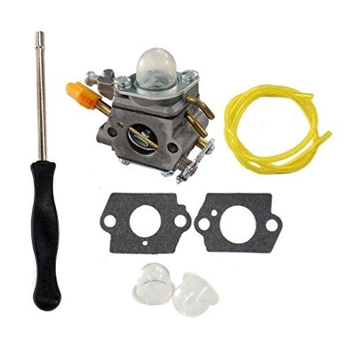HURI Carburetor with Adjustment Tool Kit Screwdriver for 901552002 308054032 308054025 Ryobi RY09550 RY09551 RY09050 by HURI